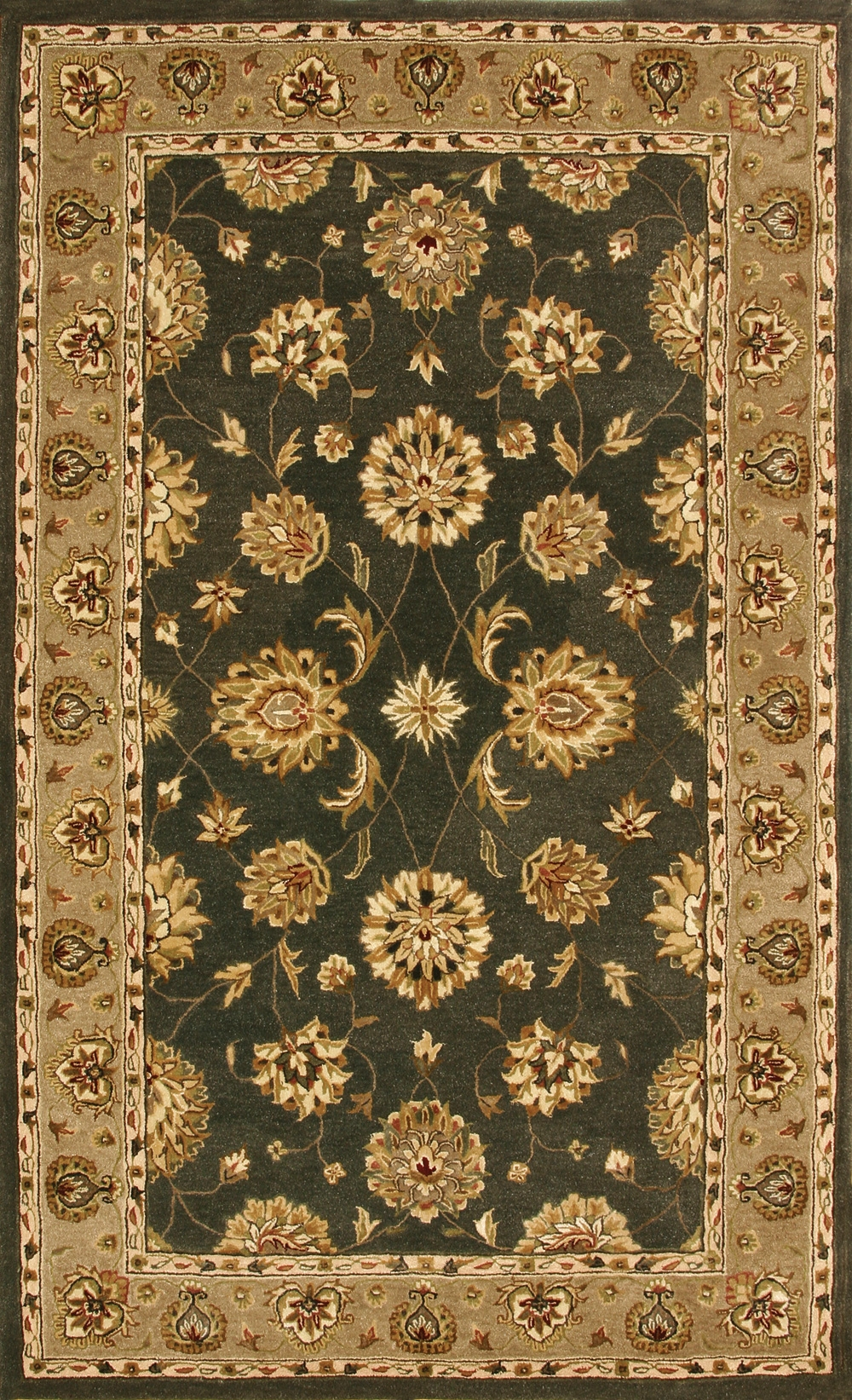 Green Dark Linen 70230 444 Jewel Rug By Dynamic