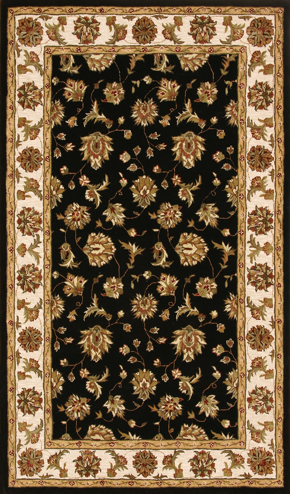 Black Beige 70231 090 Jewel Rug By Dynamic