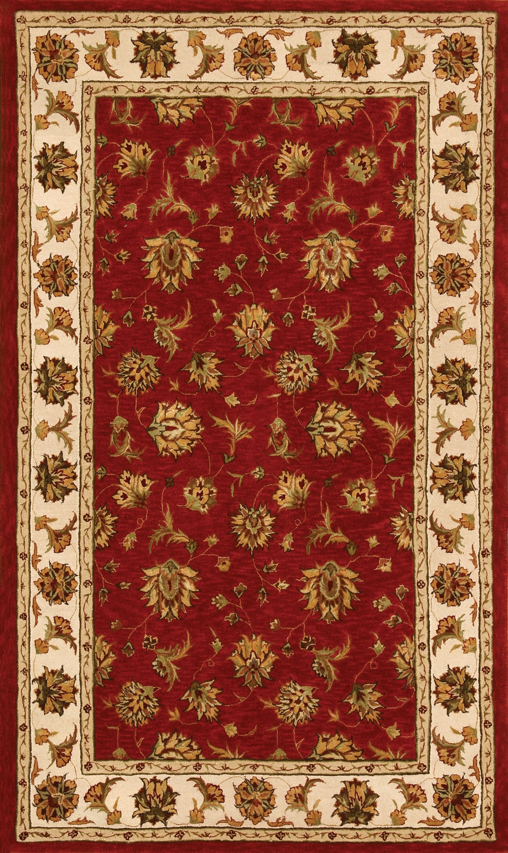 Red Beige 70231 330 Jewel Rug By Dynamic