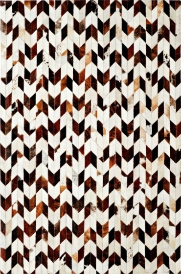 Ivory Brown 8106 106 Leatherwork Rug By Dynamic