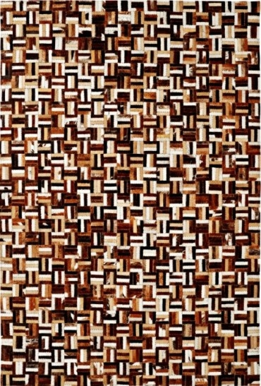 Brown Multi 8108 666 Leatherwork Rug By Dynamic