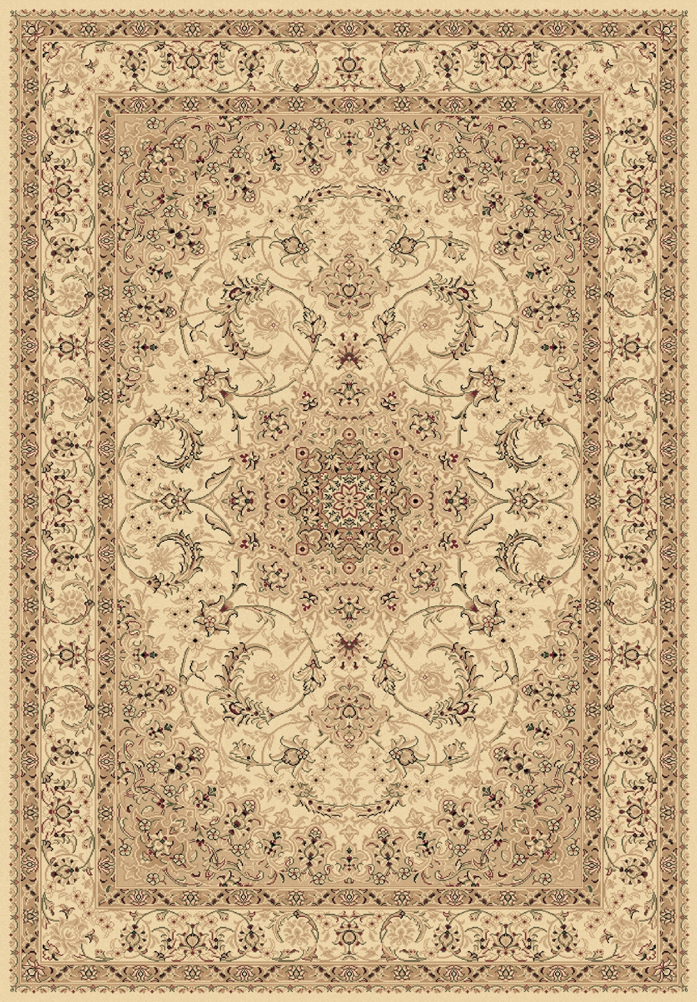 Legacy 58000 100 Ivory Machine Made 100% Polypropylene Made in Turkey Dynamic Rugs