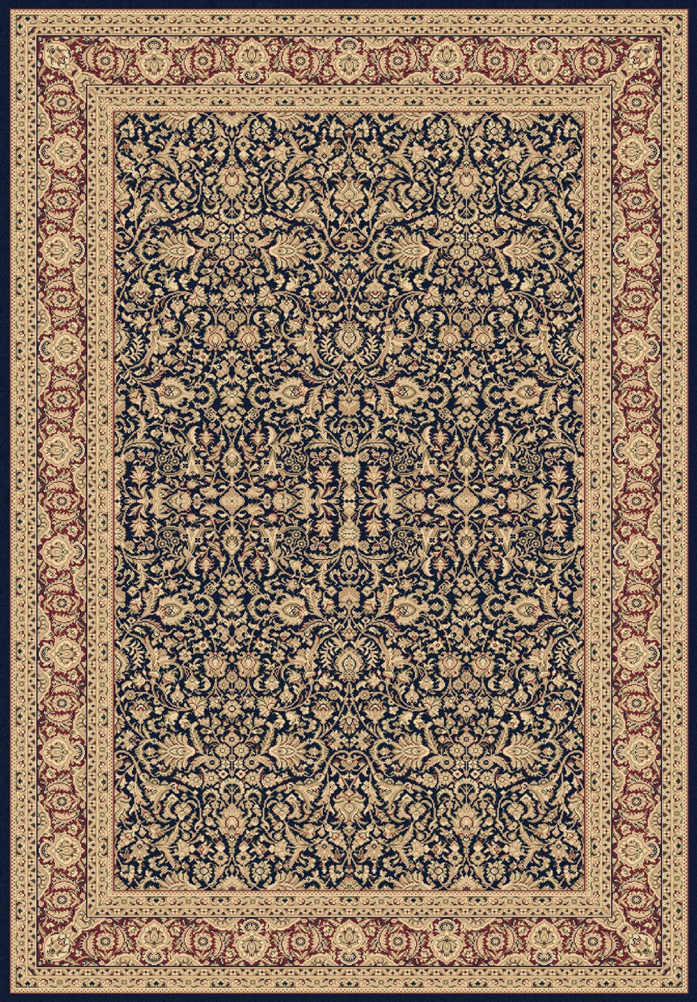 Navy 58004 530 Legacy Rug By Dynamic