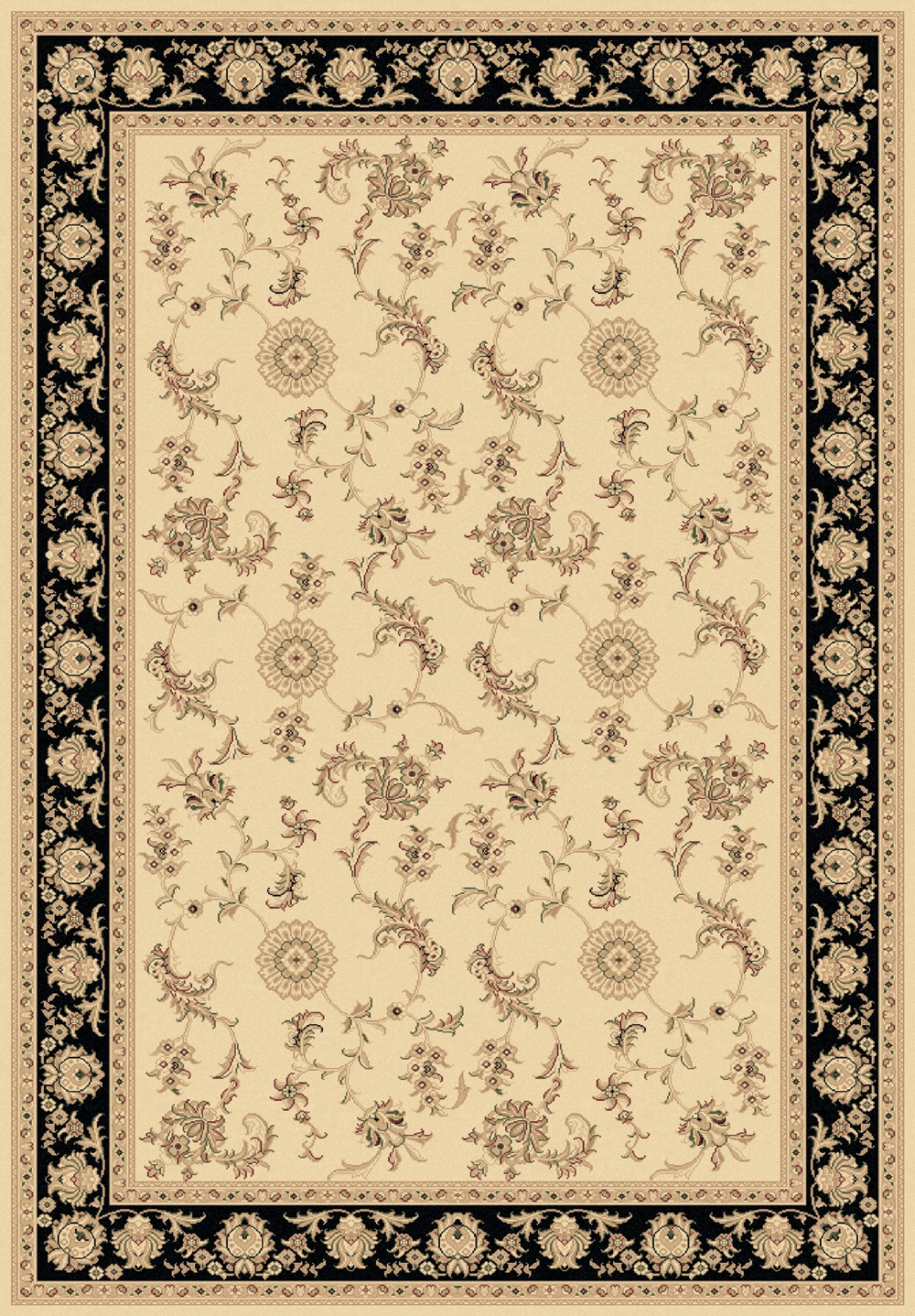 Ivory Black 58017 190 Legacy Rug By Dynamic
