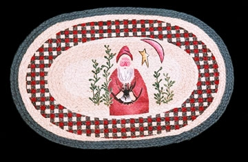 Licensed Art 1004 Belsnickle Santa 100% Jute Earth Rugs