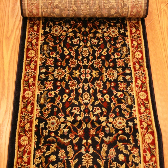 Fairfax Navy Tabriz - 26 Inch Wide Finished Runner - Price Per Foot