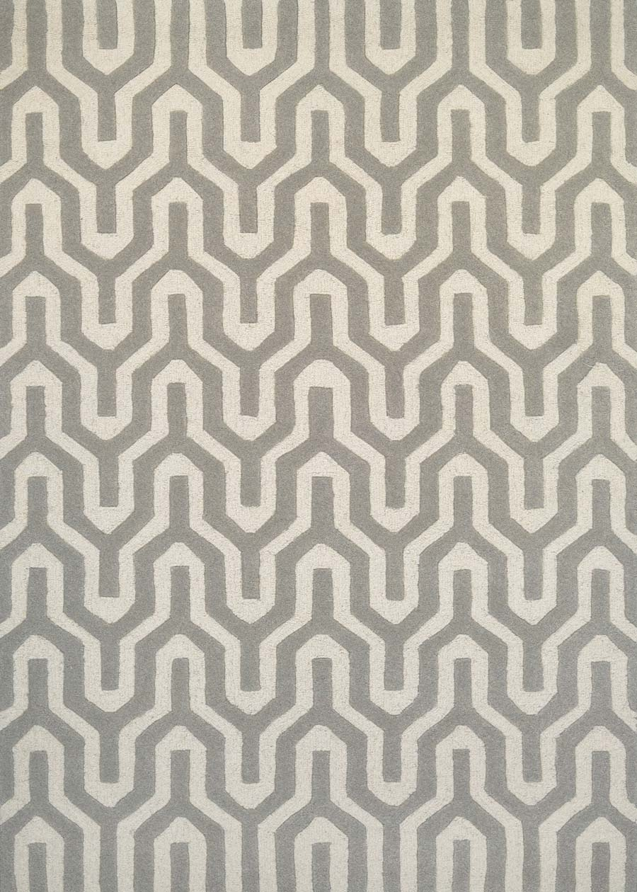 Couristan Super Indo Natural 2136/7895 Cambria White/Grey Rug