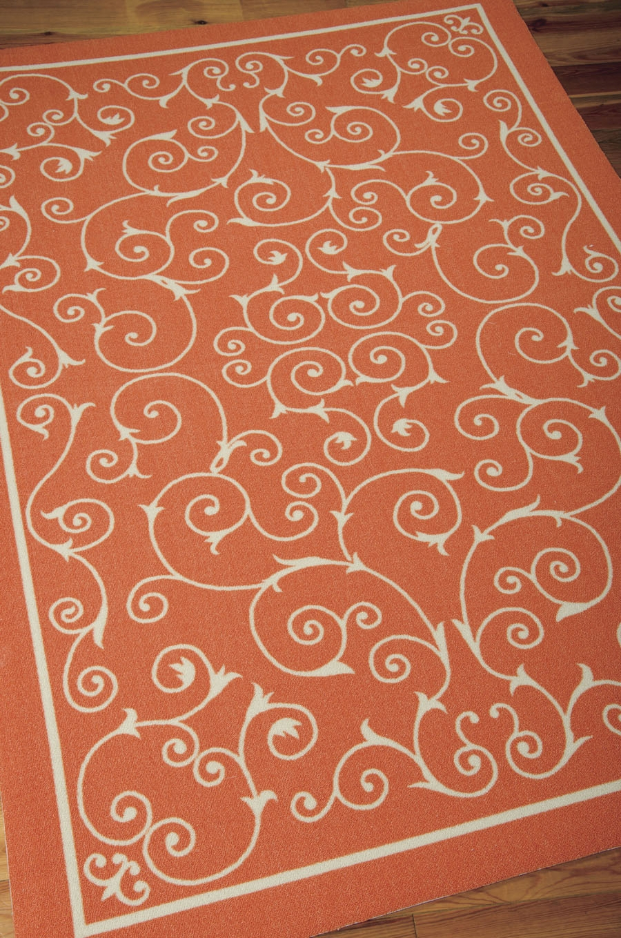 Home And Garden RS19 Orange Outdoor Rug by Nourison