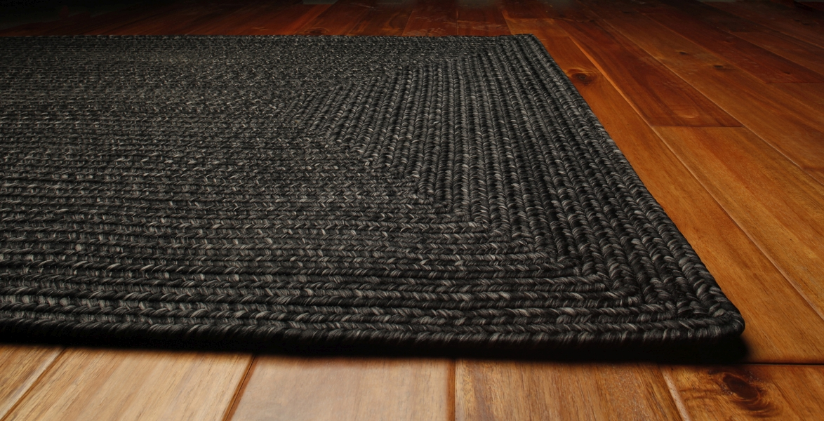 Black Outdurable Outdoor Rug by Homespice