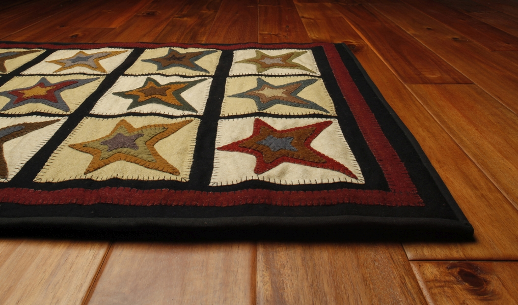 Star Patch Hand Made Rug By Homespice