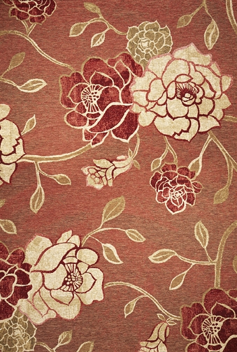 Horizon 5708 Brick Red Flora Outdoor Rug by Kas