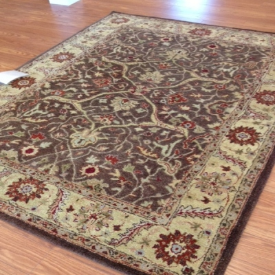 Payless Rugs Clearance Imperial Garden Brown Area Rug 5 ft x 8 ft