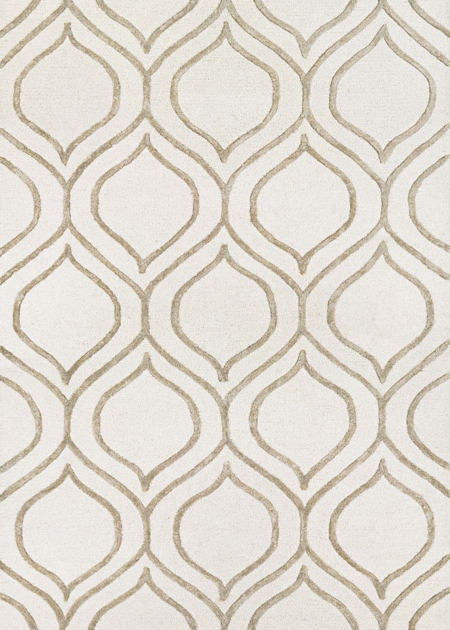 Couristan Super Indo Natural Alba 2179/0212 Ivory Grey Rug