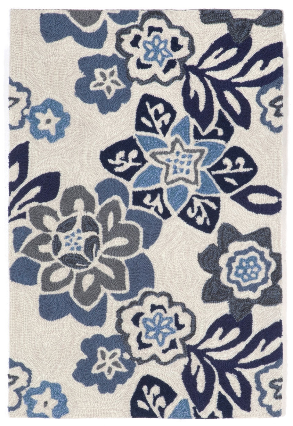 Trans-Ocean Ravella 2180/03 Floral China Blue Area Rug