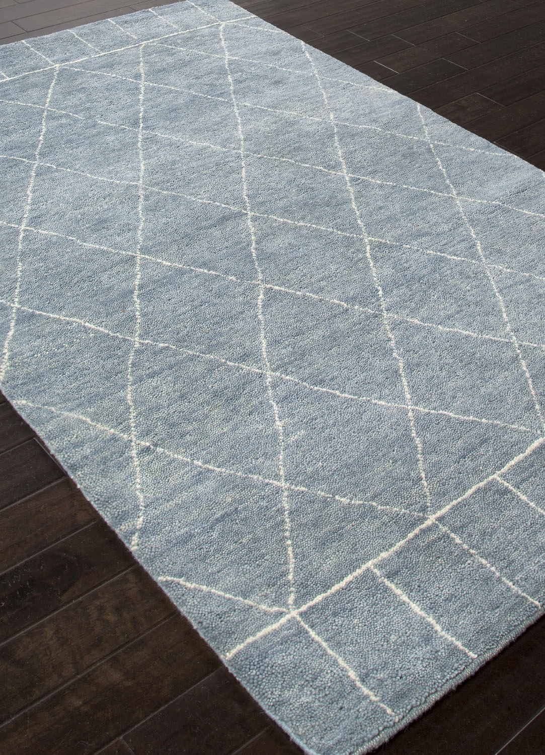 Jaipur Nostalgia Ns04 Pastel Blue And Antique White Rug