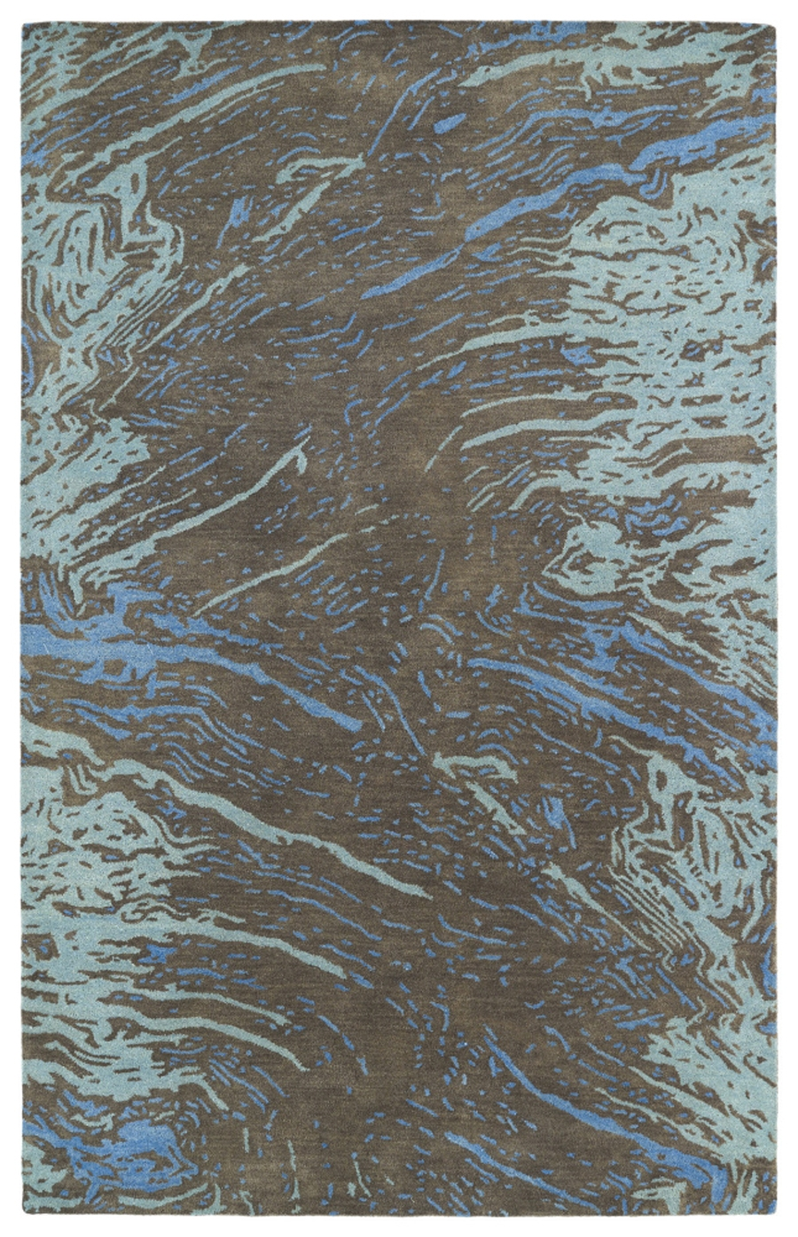 Kaleen Brushstrokes BRS01 40 Chocolate Area Rug