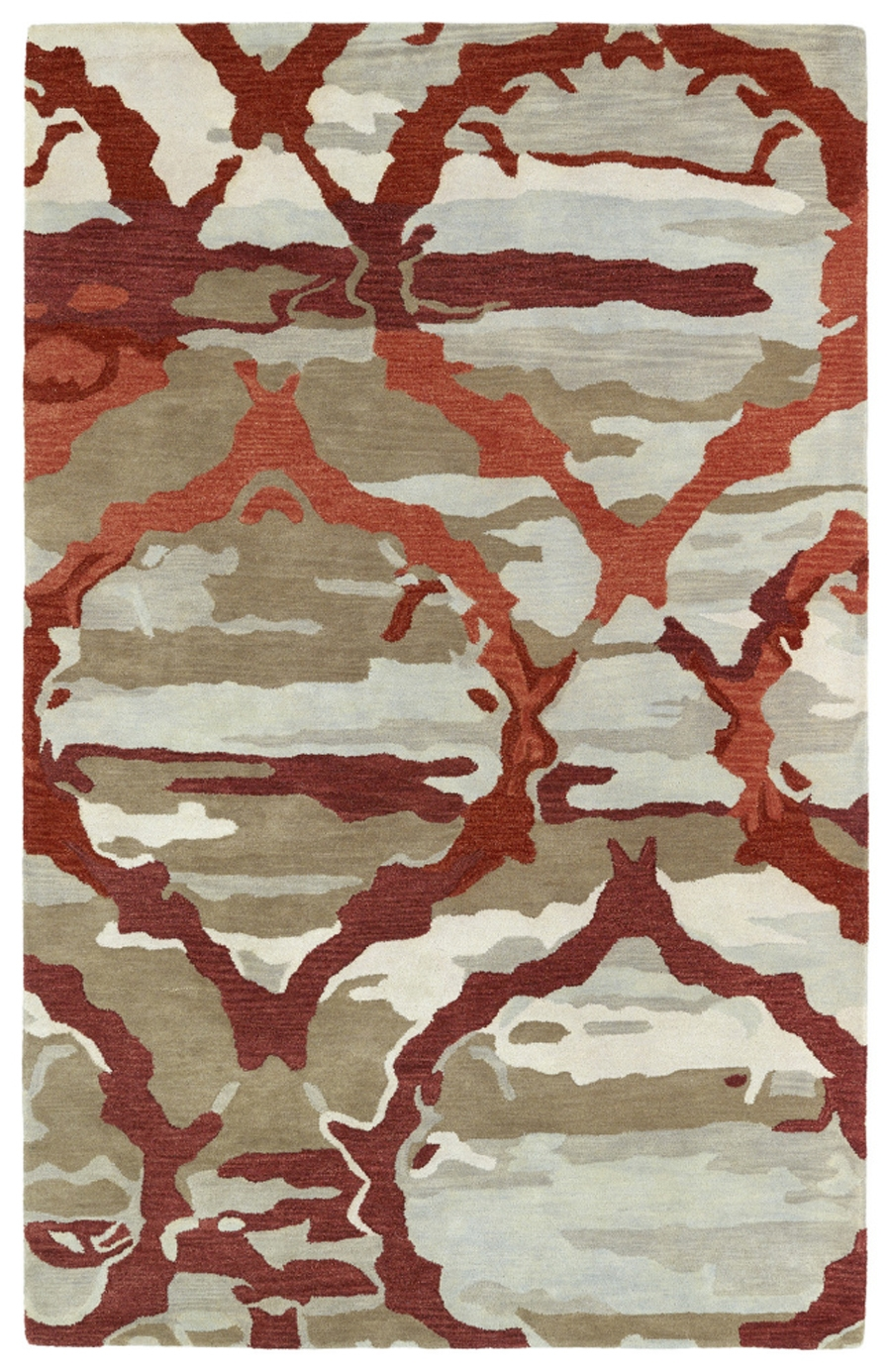 Kaleen Brushstrokes BRS02 25 Red Area Rug