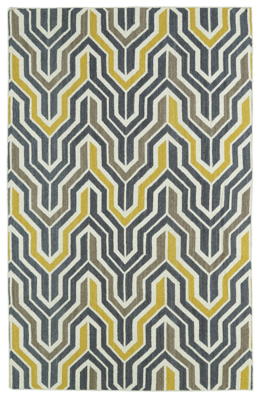 Kaleen Glam GLA03 28 Yellow Area Rug