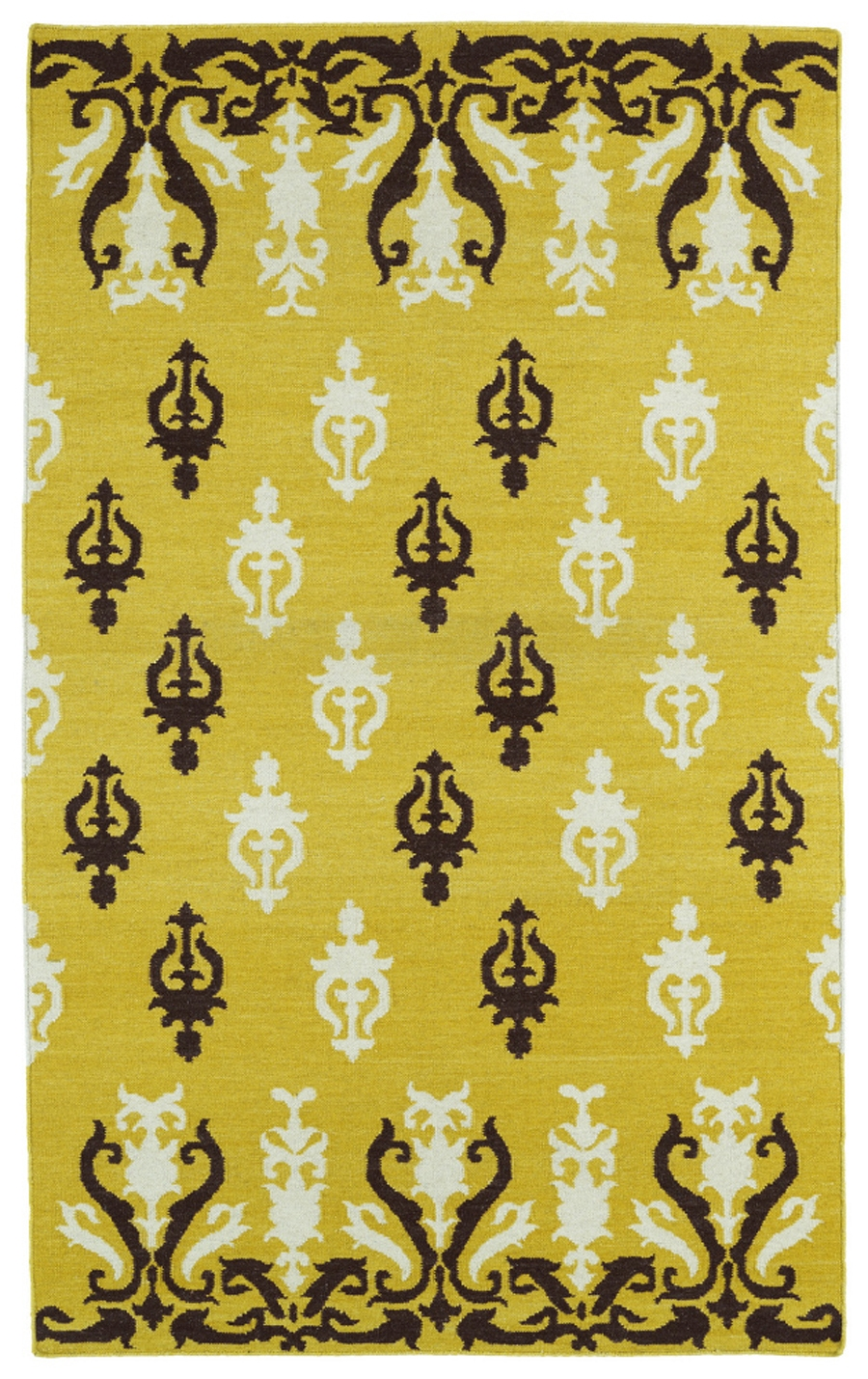 Kaleen Glam GLA04 28 Yellow Area Rug