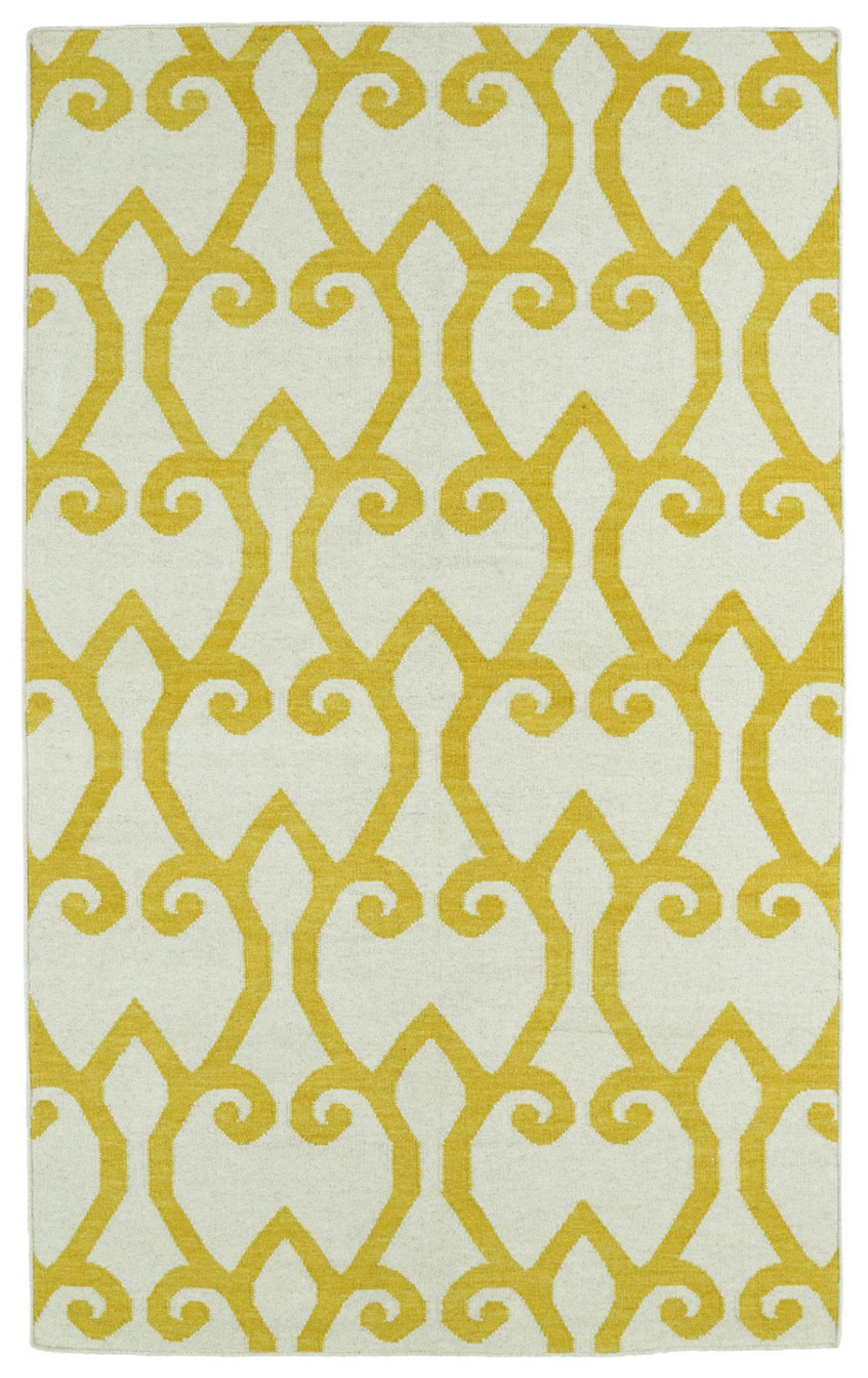 Kaleen Glam GLA05 28 Yellow Area Rug