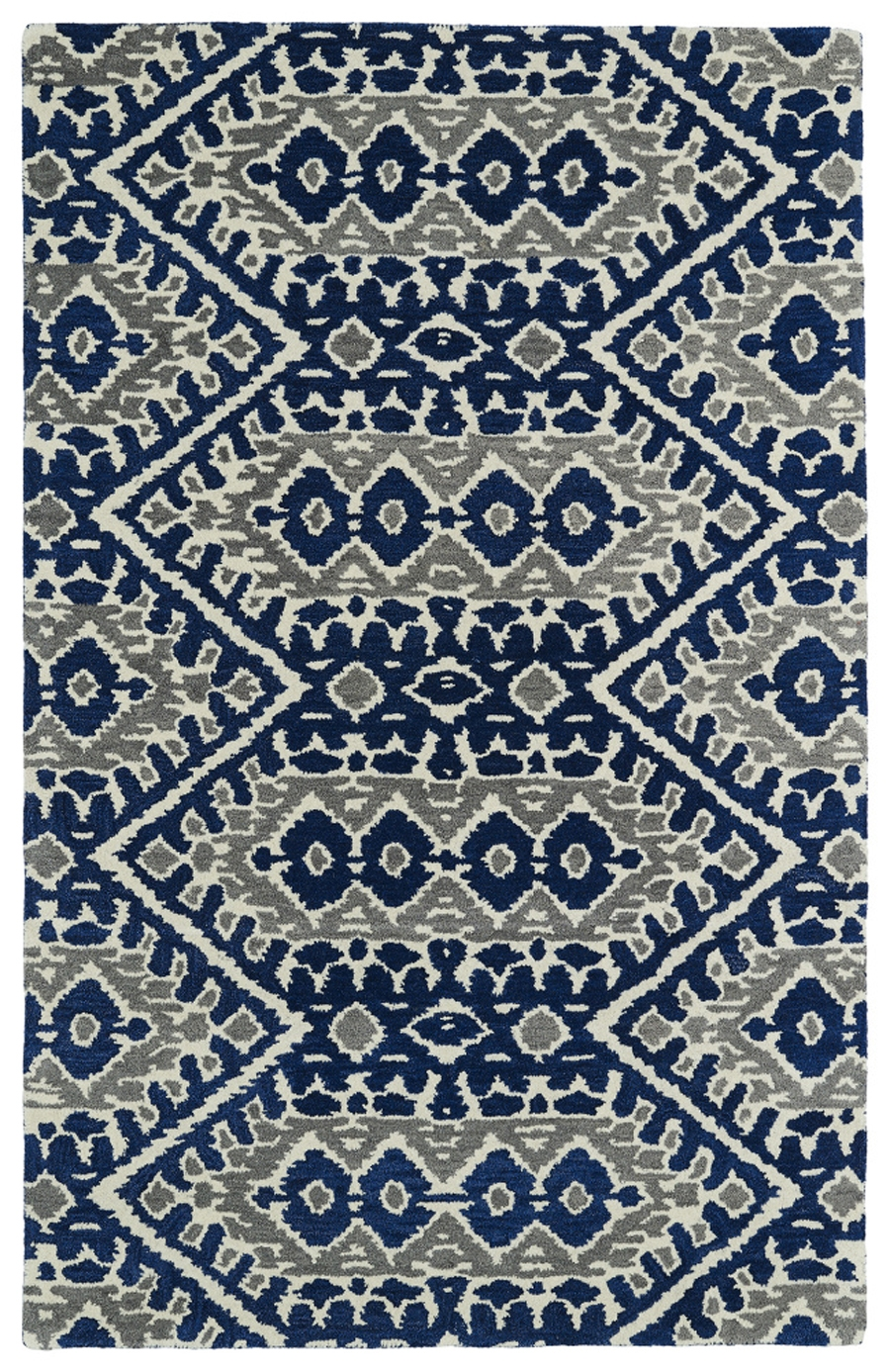 Kaleen Global Inspirations GLB01 17 Blue Area Rug