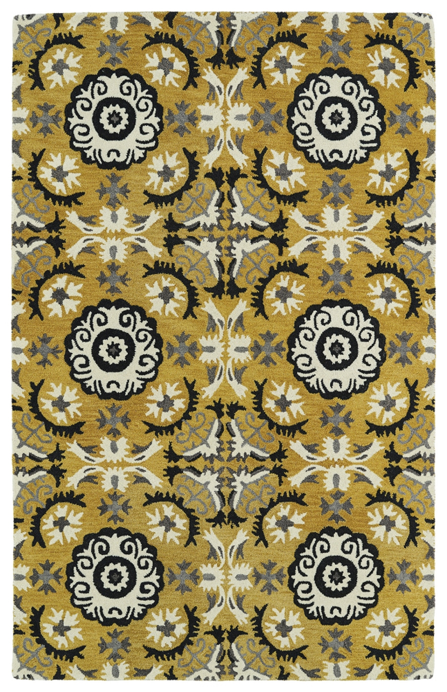 Kaleen Global Inspirations GLB06 28 Yellow Area Rug