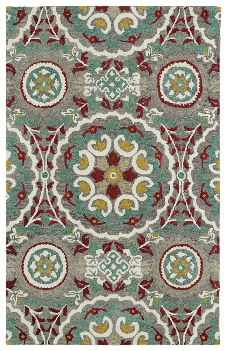 Kaleen Global Inspirations GLB08 75 Grey Area Rug