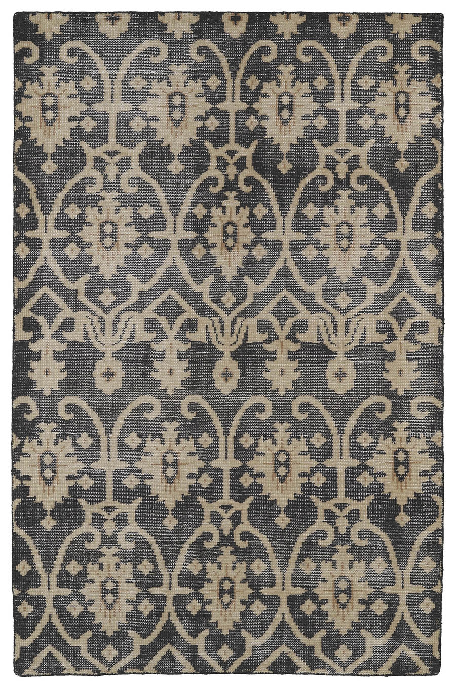 Kaleen Restoration RES01 02 Black Rug