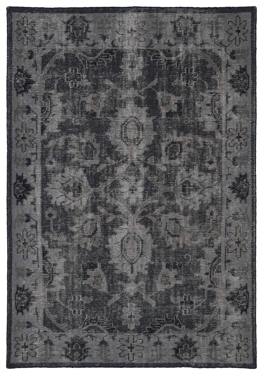 Kaleen Restoration RES02 02 Black Rug