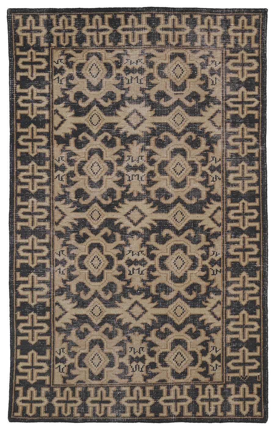Kaleen Restoration RES04 02 Black Rug