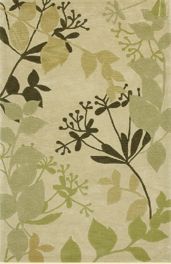 Bali 2821 Ivory Rainforest Rug by Kas