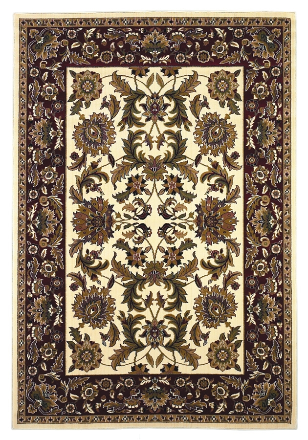 Cambridge 7303 Ivory/Red Rug by Kas