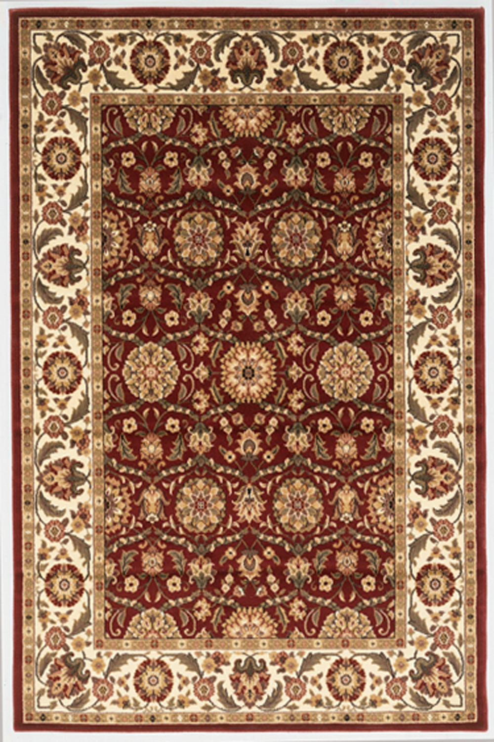 Cambridge 7306 Red/Ivory Rug by Kas