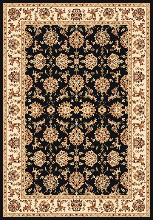 Cambridge 7313 Black/Ivory Rug by Kas