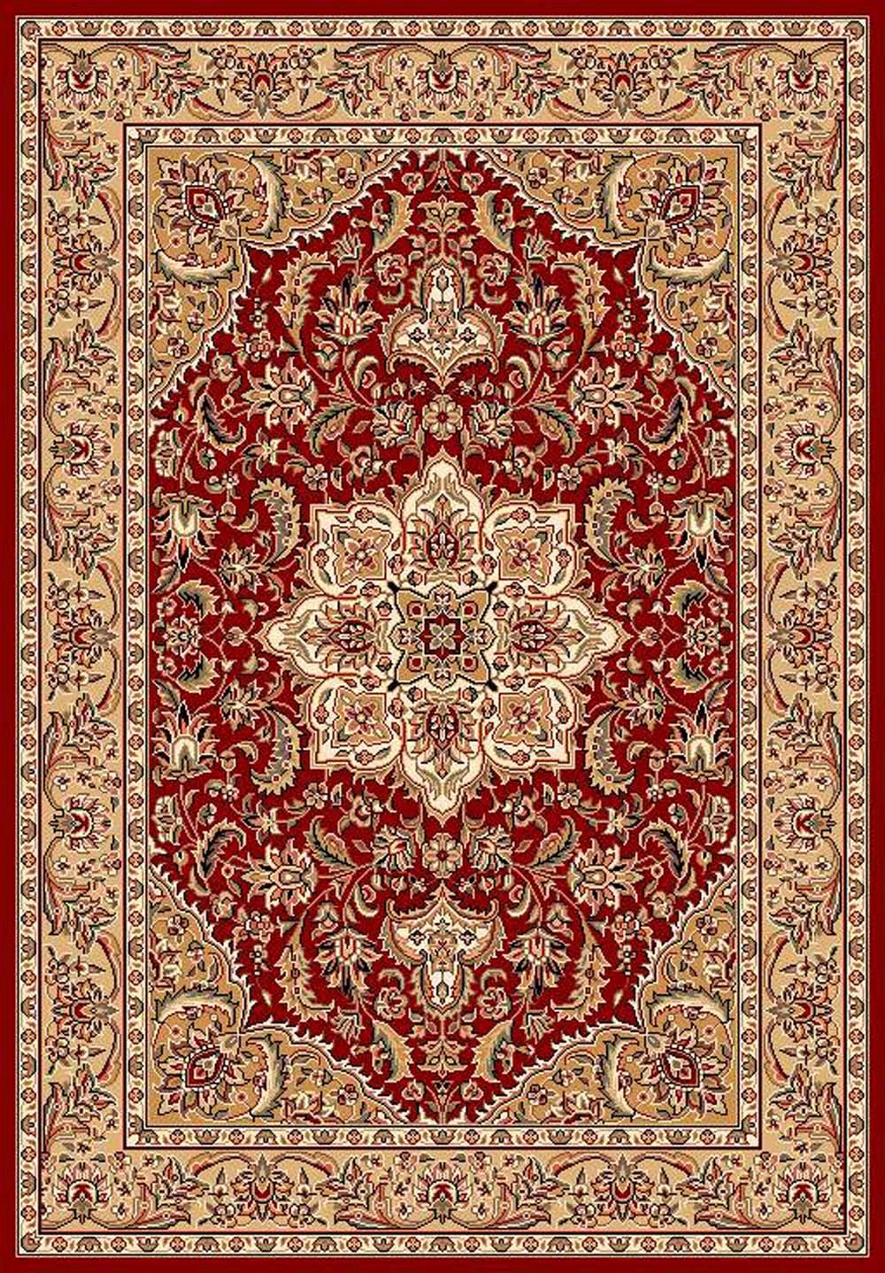 Cambridge 7326 Red/Beige Rug by Kas