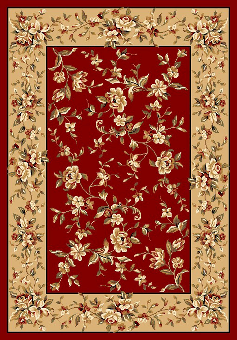 Cambridge 7337 Red/Beige Rug by Kas