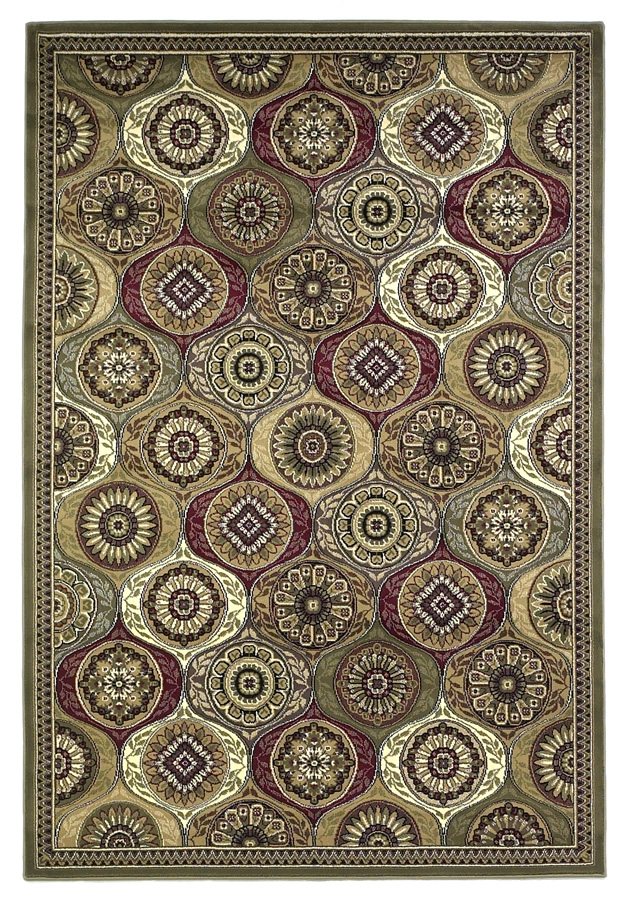 Cambridge 7345 Multi Mosaic Panel Rug by Kas