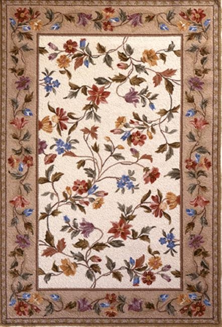 Colonial Floral Vine 1707 Ivory Rug by Kas