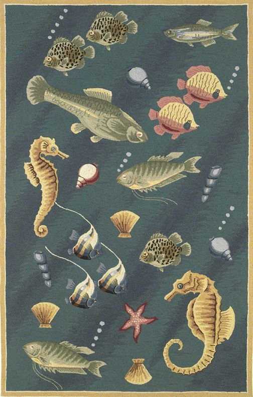 Colonial Deep Sea Dives 1808 Blue Rug by Kas