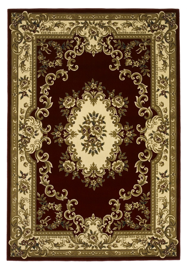 Corinthian 5308 Red/Ivory Aubusson Rug by Kas