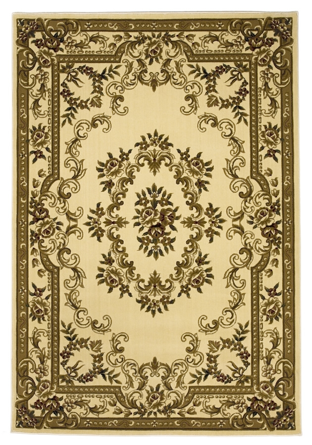 Corinthian 5311 Ivory Aubusson Rug by Kas