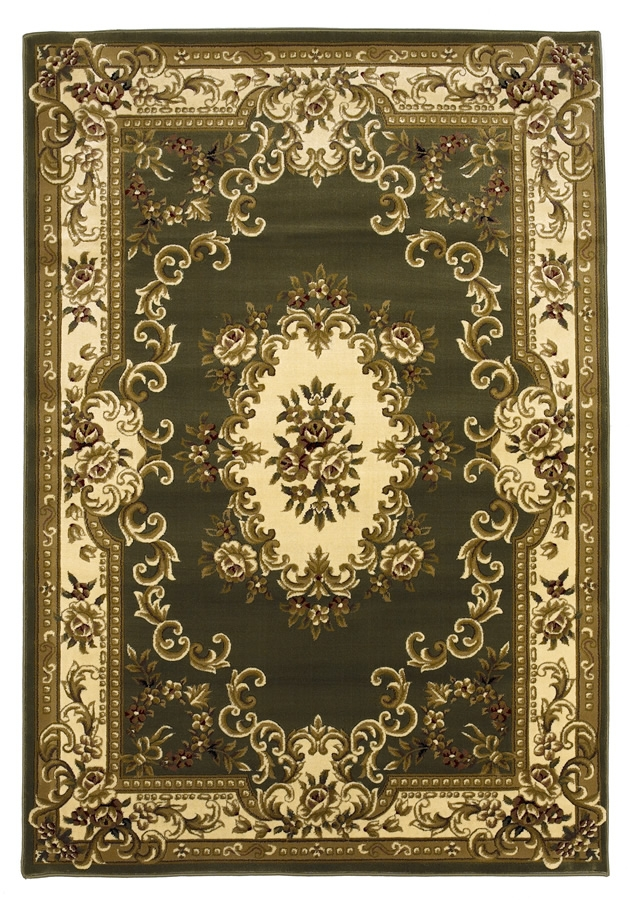 Corinthian 5312 Sage/Ivory Aubusson Rug by Kas