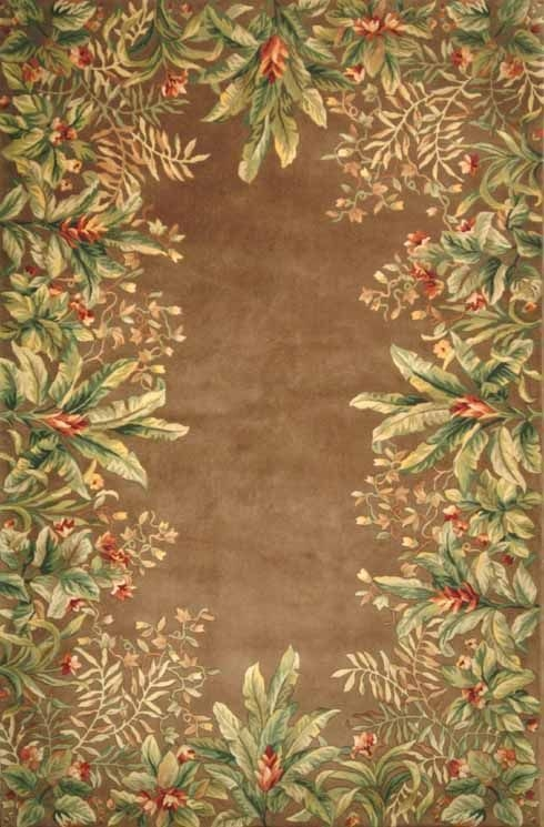 Emerald Tropical Border 9000 Taupe Rug by Kas