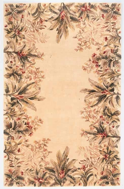 Emerald Tropical Border 9022 Ivory Rug by Kas