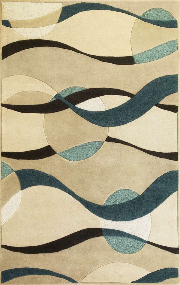Eternity Orbit 1093 Ivory/Blue Rug by Kas