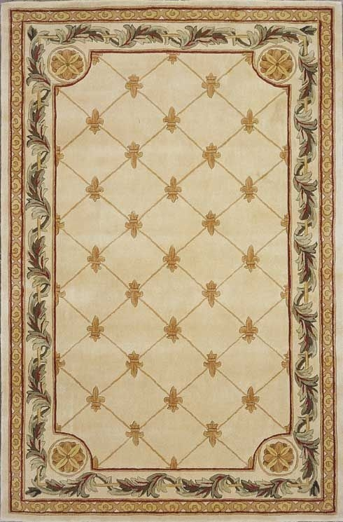Jewel Fleur De Lis 310 Antique Ivory Rug by Kas