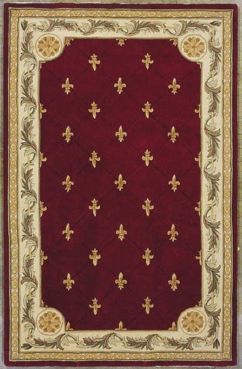Jewel Fleur Di Lis 311 Red Rug by Kas