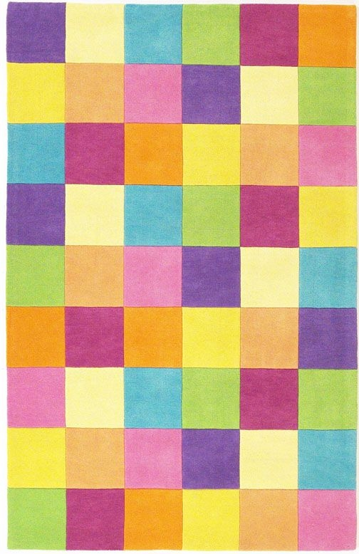 Kidding Around 420 Girls Color Blocks Rug By Kas