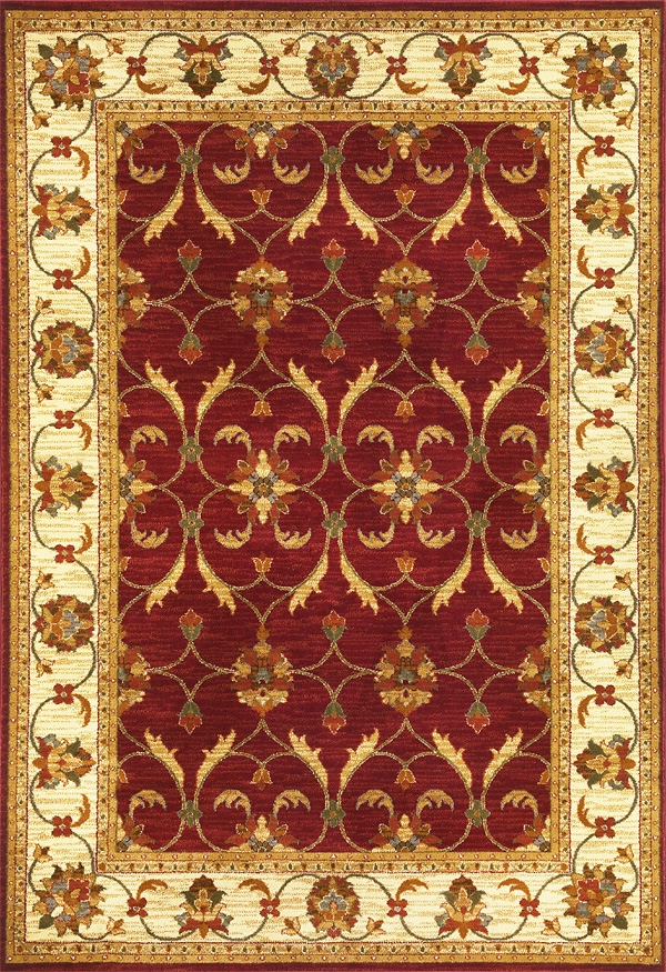 Lifestyles 5468 Red Ivory Agra Rug by Kas