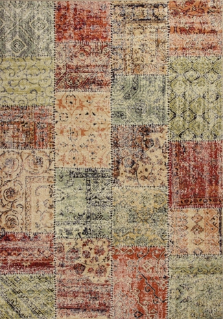 Kas Reflections 7420 Multicolor Patchwork Rug